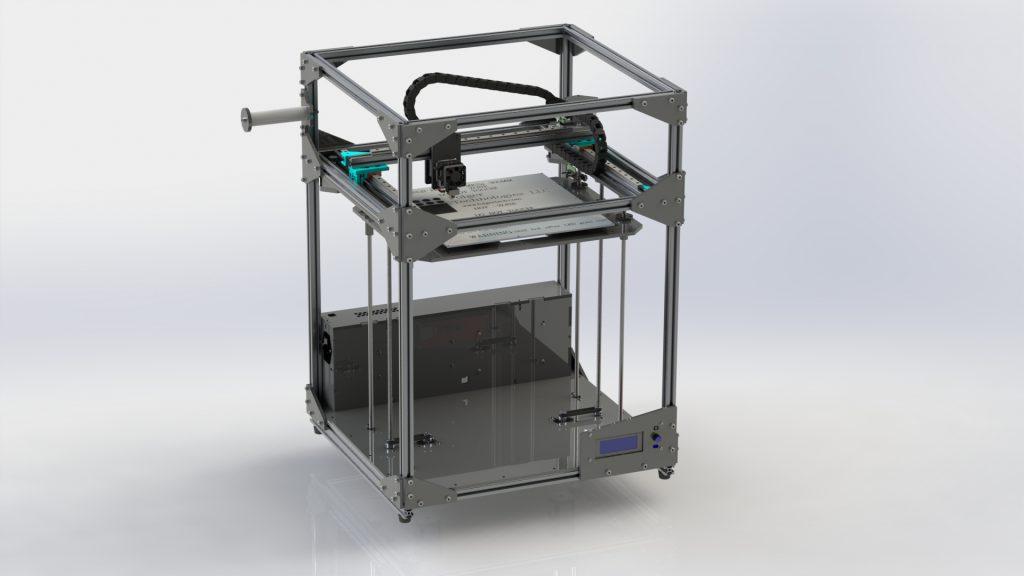 3D-tulostin Folgertech FT-5 Solidworks-malli