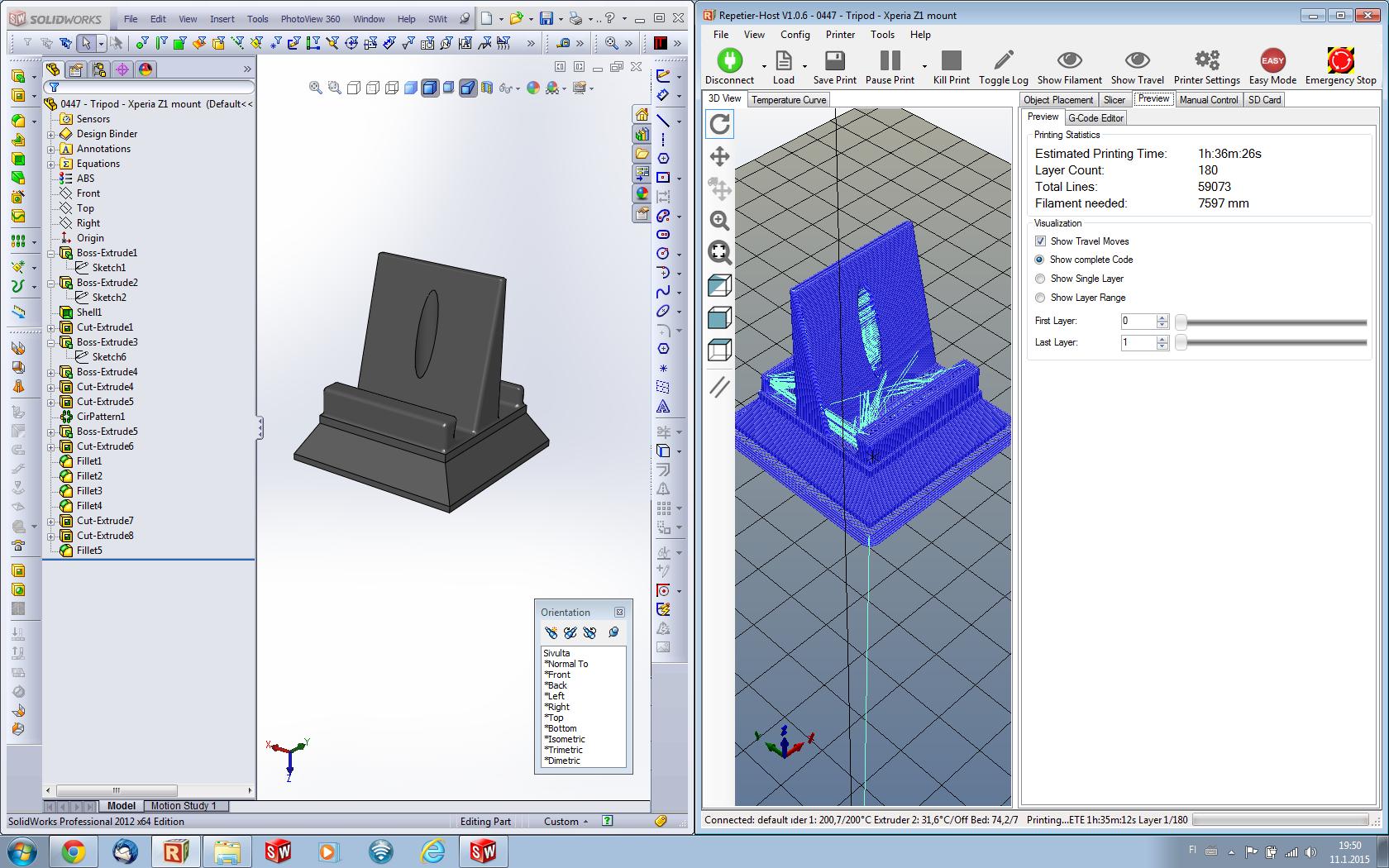 Tiedostoja 3D-tulostusta varten